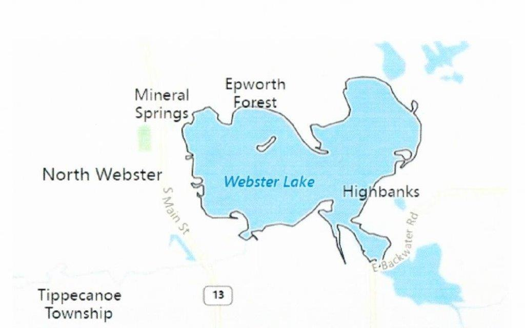Map of Webster Lake